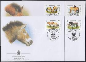 2000 WWF lovak sor Mi 3122-3125 4 FDC