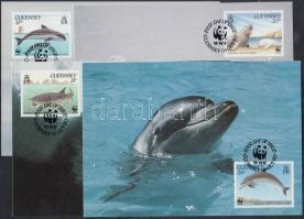 1990 WWF tengeri állatok sor Mi 497-500 4 CM