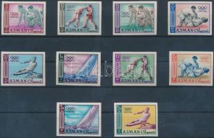 Tokyo Olympics,1964 imperf set, Tokiói olimpia, 1964 vágott sor