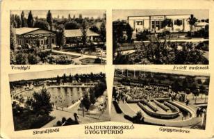 Hajdúszoboszló gyógyfürdő, vendéglő, medencék (fa)