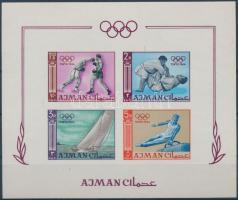 1965 Tokiói olimpia vágott blokk Mi 2 B