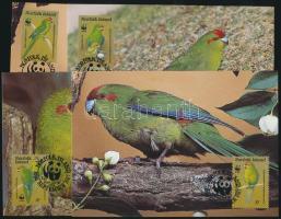 1987 WWF papagájok sor Mi 421-424 4 CM