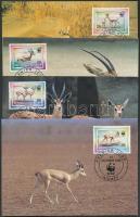 1998 WWF Gazella sor Mi 1460-1463 4 CM