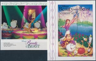1992 Walt Disney, A szépség és a szörnyeteg sor, közte 2 db kisív Mi 2138-2165 + 5 db blokk 232-236
