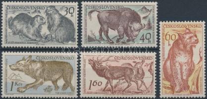 1959 15 éves a Tátrai természetvédelmi park, állatok sor Mi 1153-1157