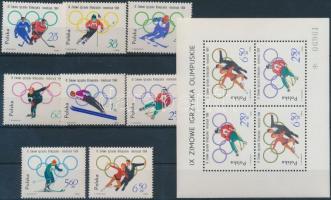 1964 Téli olimpia, Innsbruck sor Mi 1457-1464 + blokk Mi 32