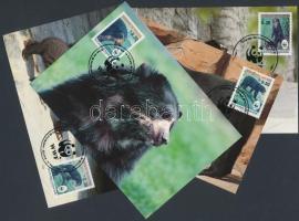 1991 WWF Pápaszemes medve sor Mi 1137-1140 4 CM
