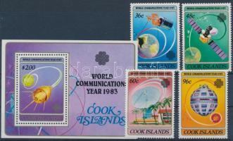 1983 Kommunikációs világév sor Mi 927-930 + blokk Mi 136