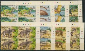 2006 Dinoszaurusz sor ívsarki négyestömbökben Mi 1315-1322