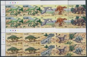 2006 Dinoszaurusz sor ívsarki négyestömbökben Mi 638-645