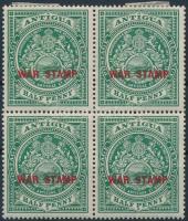 1916 Mi 36 négyestömb (2 érték postatiszta)