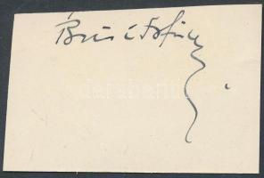 Brisits Frigyes (1890-1969), irodalom történész, író, ciszter-paptanár Aláírás kivágáson.