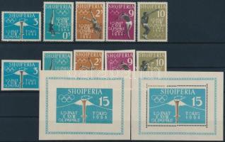1962 Nyári olimpia 1964, Tokió (I) sor Mi 657-661 AB + fogazott és vágott blokk Mi 8 AB
