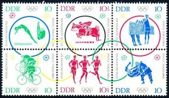 1964 Tokiói olimpia (II) sor hatostömbben Mi 1039-1044