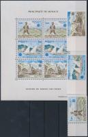 1979 Europa CEPT a posta és távközlés története ívszéli sor Mi 1375-1377 + blokk 15