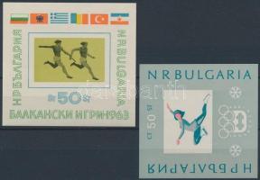 1963-1964 Sport motívum, 2 db blokk Mi 11, 12