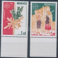 1981 Europa CEPT: Folklór sor Mi 1473-1474 + blokk 17