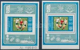 1973 Olimpia kongresszus fogazott és vágott blokk Mi 42 AB