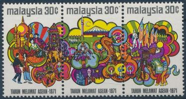 1972 Turizmus hármascsík Mi 94-96