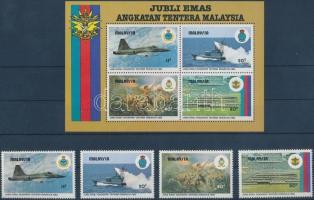 1983 Hadsereg sor Mi 265-268 + blokk Mi 2