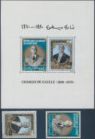 1971 Charles de Gaulle sor Mi 418-419 + blokk Mi 9