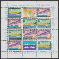 Danube shipping lane mini sheet, Dunai hajózási útvonal kisív
