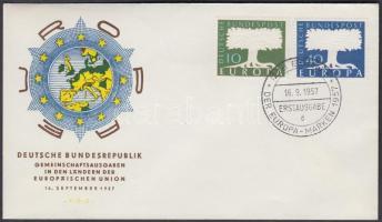 1957 Europa CEPT sor Mi 265-266 FDC-n