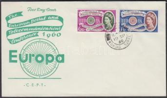 1960 Europa CEPT sor Mi 341-342 FDC-n