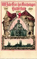 1934 - 800 Jahr-Feier des Reichstages der Halberstadt / city anniversary postcard, 1934 - a Reichstag 800. évfordulójának megünneplése Halberstadtban