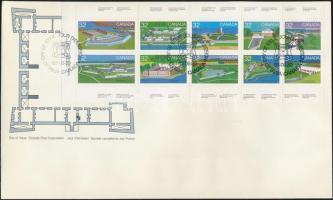1983 Kanadaiak napja, Erődök (I) bélyegfüzetlap Mi 877-886 FDC-n