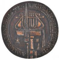 1967. A Magyar Néphadsereg Kulturális Bemutatója Br plakett eredeti dísztokban (109mm) T:2