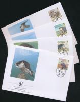 2000 WWF madarak sor WWF értékei Mi 147-150 A 4 FDC