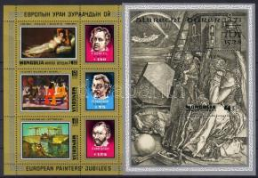 1978 Goya festmények kisív + Dürer blokk Mi 1181-1183 + 56