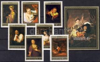 1981 Rembrandt festmények sor+blokk Mi 1398-1404+74