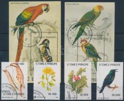 1992 Növények és madarak sor Mi 1330-1333 + 2 db blokk 278-279