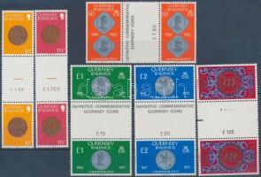 1980-1981 Érmék 6 ívközéprészes pár Mi 199-203 + 222