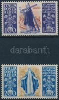 1948 Szent Katalin sor légi értékei Mi 744-745 (200L apró folt a gumin)
