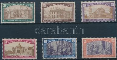 1924 Szent év sor Mi 206-211 (gumihiba)