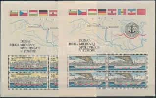 125th anniversary of Danube Commission blockset, 125 éves a Duna Bizottság blokksor