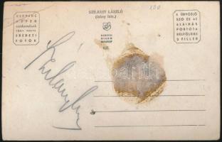 Szilassy László színművész által aláírt (közepes állapotú) fotólap; Inkey felvétele