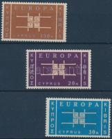 1963 Europa CEPT sor Mi 225-227