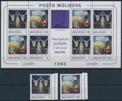 1993 Európa CEPT ívszéli sor és kisív Mi 94-95