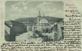 Pécs, Fő tér; Felvette és kiadja Krudy István (EK)