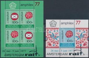 1977 Bélyegkiállítás blokk sor 22-23 A