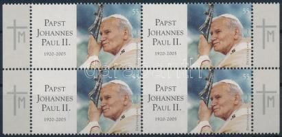 2005 II. János Pál pápa négyestömb Mi 2460