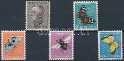Pro Juventute, insects set (5c stain), Pro Juventute, Rovarok sor (5c rozsdafoltos)