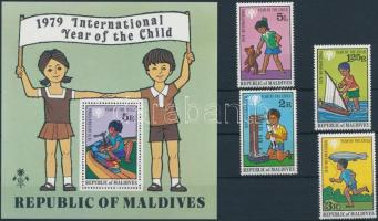 1979 Nemzetközi Gyermek év sor Mi 822-825 + blokk 57