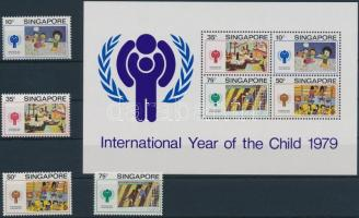 International Children's Year set + block, Nemzetközi Gyermek év sor + blokk