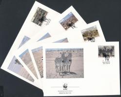 1991 WWF zebrák sor Mi 702-705 4 FDC