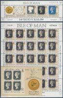 1990 150 éves a bélyeg kisív Mi 431 + blokksor Mi 12-13